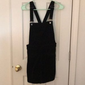 H&M black corduroy pinafore/ overall dress